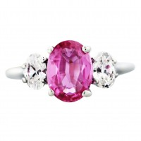 An oval shaped pink sapphire ring - $6295
