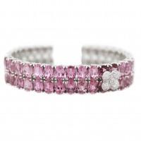 A 30 carat pink sapphire cuff - $5,295