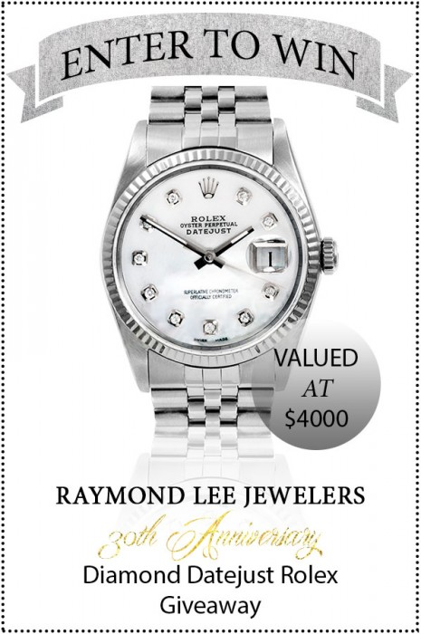 Raymond Lee Jewelers Rolex Giveaway