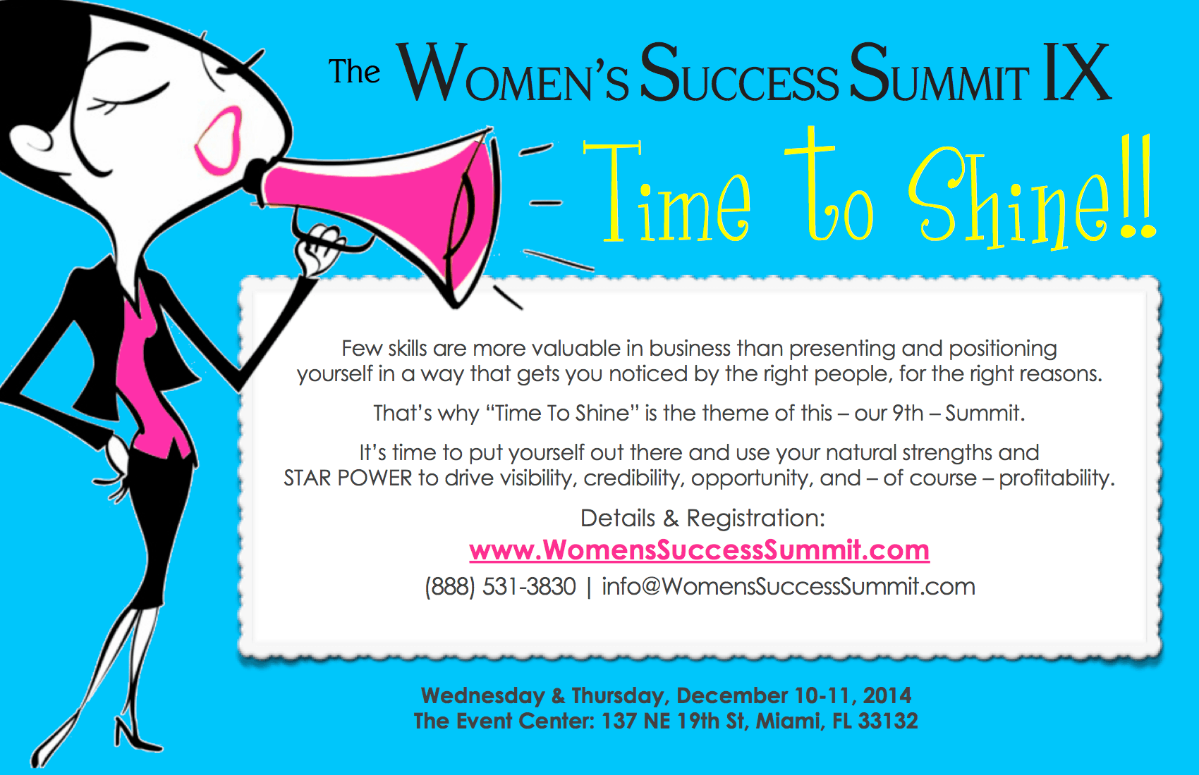 women success summit time to shine
