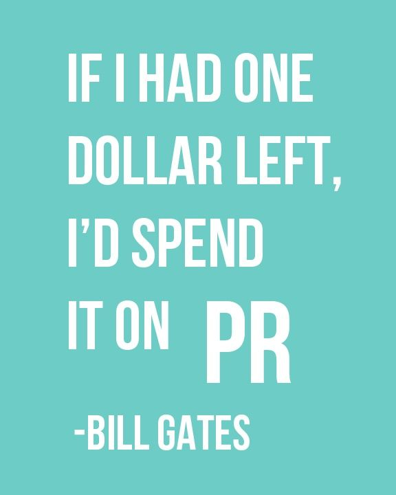 public relations bill gates
