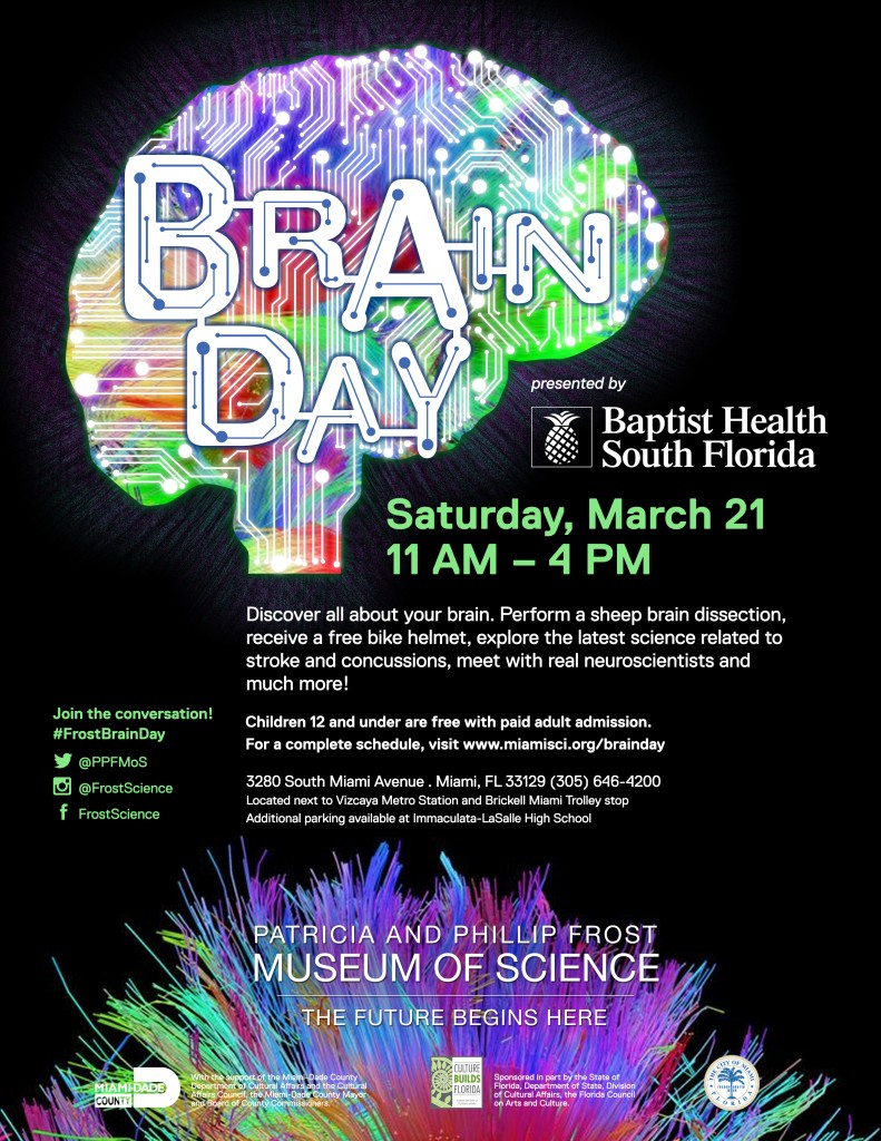 Frost Science Brain Day Saturday, March 21