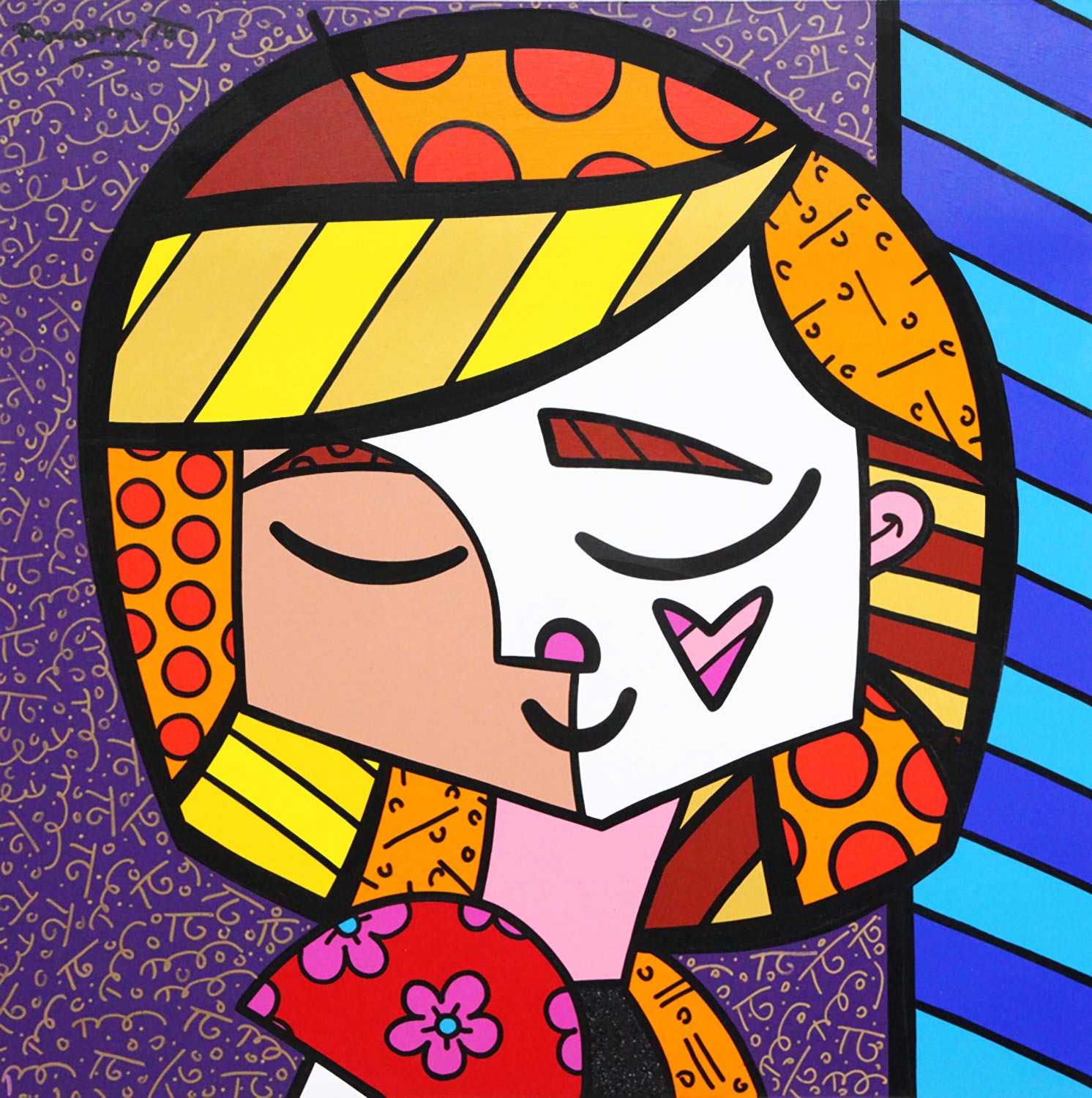 Pop goes the artist romero britto exhibit opens at coral springs good girl 48x48 acrylic on canvas 2005 mightylinksfo