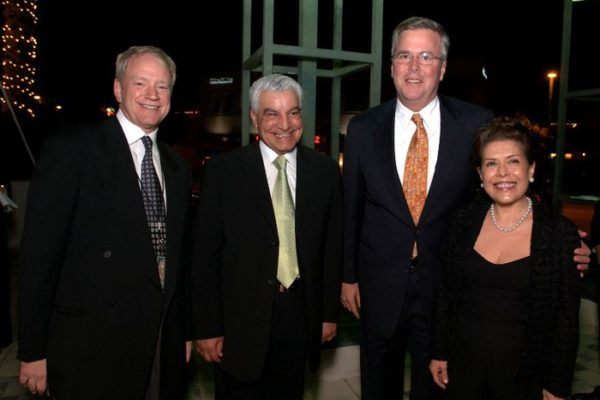 "Dr. David Silverman, national curator for ""Tutankhamun and the Golden Age of the Pharaohs"", left,  Dr. Zahi Hawass, secretary general of Egypt's Supreme Council of Antiquities,  Florida Governor Jeb Bush and First Lady Columba Bush, right, during the VIP preview of the ""Tutankhamun and the Golden Age of the Pharaohs"" exhibition Wednesday, Dec. 14, 2005 at the Museum of Art/Fort Lauderdale in Fort Lauderdale, Fla.   The exhibition, sponsored by Northern Trust, opens its doors to the public December 15, 2005.  The second of four venues during its 27-month tour of the United States and the only southeast destination, the exhibition is organized by National Geographic, AEG Exhibitions, and Arts and Exhibitions International, with cooperation from the Egyptian Supreme Council of Antiquities, and locally sponsored by Blue Cross and Blue Shield of Florida.   (AP PHOTO/MUSEUM OF ART/FORT LAUDERDALE, David Adame)"