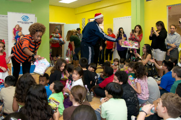 "New York Yankees third baseman, Alex Rodriguez ""A-Rod"" at Boys & Girls Clubs of Miami-Dade's Hank Kline Club distributes toys to approximately 75 children between the ages 5-12, Saturday, December 8,, 2012 in Miami Florida. Photo/Rothstein, Gary I for The New York Daily News."