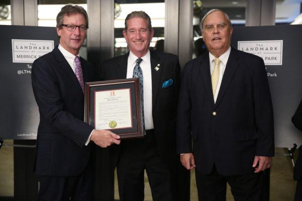 Landmark CEO Ted Mundorff, John Allen, & Coral Gables Mayor Jim Cason