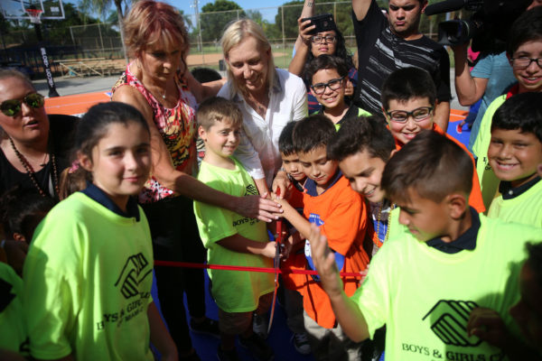 Nancy Lieberman & Martina Navratilova Ribbon Cutting7