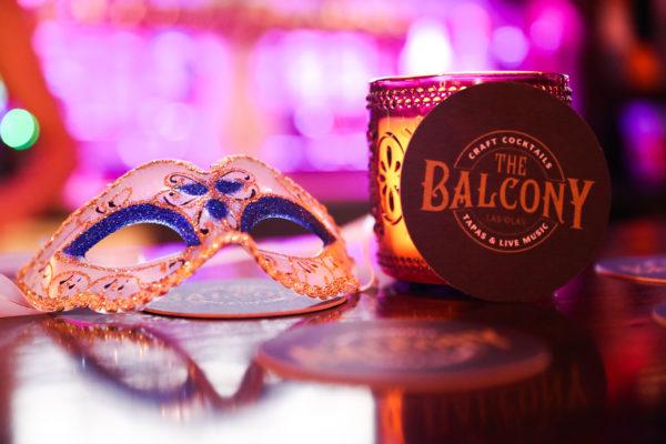The Balcony Masquerade Mask and Logo